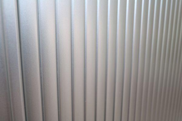Haworth Schrank weiß-silbergrau verschiedene Größen und Breiten Rollodetailansicht