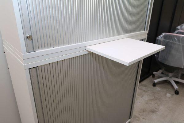 Haworth Schrank weiß-silbergrau verschiedene Größen und Breiten Aktenablage ausgezogen