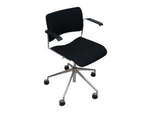 howe 40-4 drehstuhl schwarz schraeg freigestellt