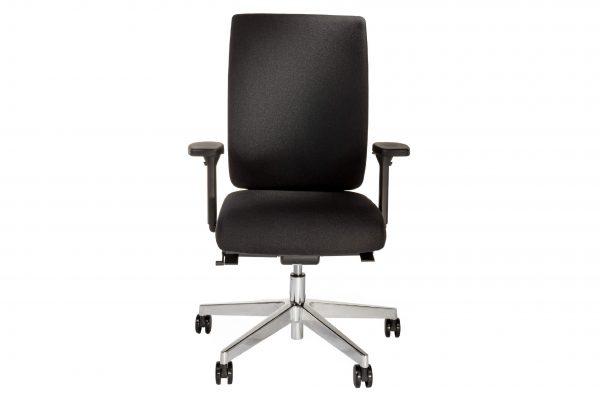ib Business - ergonomischer Bürostuhl mit Stuhlkreuz aus poliertem Aluminium