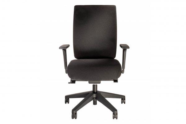ib Business - ergonomischer Bürostuhl mit schwarzem Stuhlkreuz Frontalansicht