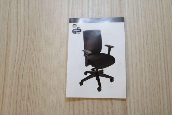 ib Business - ergonomischer Bürostuhl mit schwarzem Stuhlkreuz Produktblatt geschlossen