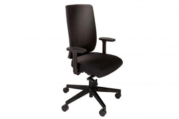 ib Business - ergonomischer Bürostuhl mit schwarzem Stuhlkreuz Schrägansicht