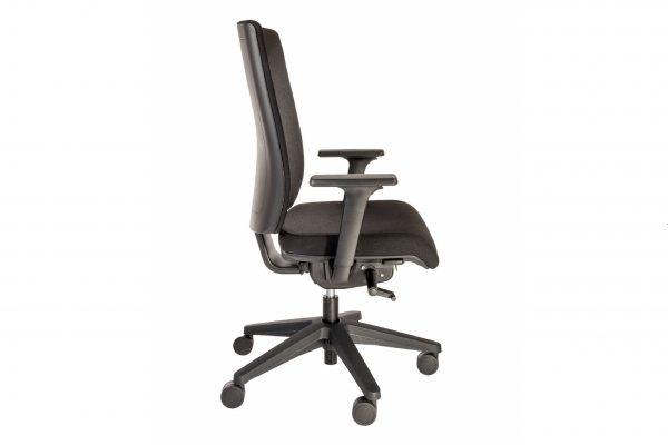 ib Business - ergonomischer Bürostuhl mit schwarzem Stuhlkreuz Seitenansicht