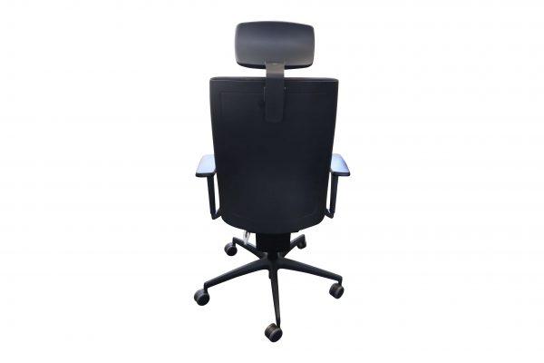 ib Business - ergonomischer Bürostuhl mit Kopfstütze Sicht von hinten
