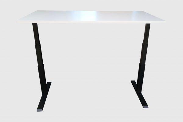 ib Lift elektrisch höhenverstellbarer Tisch hochgefahren lichtgrau Frontalansicht