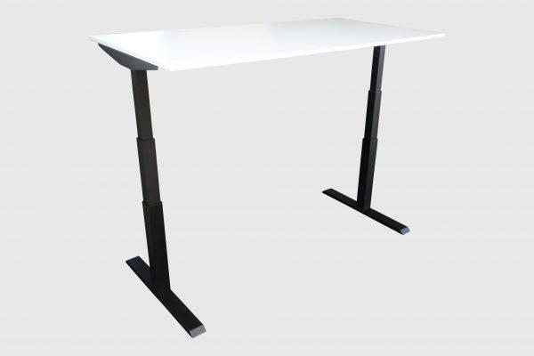 ib Lift elektrisch höhenverstellbarer Tisch hochgefahren weiss Schrägansicht