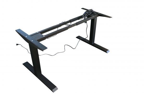 ib Lift Vario Tischgestell elektrisch höhenverstellbar runtergefahren Schrägaufnahme