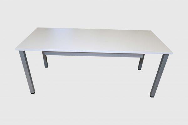ib Multisize Rechtecktisch Weiß mit quadratischen Tischbein frontale Ansicht