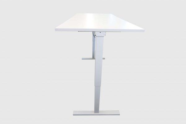 ib Multisize Weiß 180x80 cm elektrisch höhenverstellbarer Tisch Seitenansicht hochgefahren