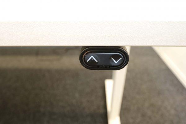 ib Multisize Weiß 180x80 cm elektrisch höhenverstellbarer Tisch Taster