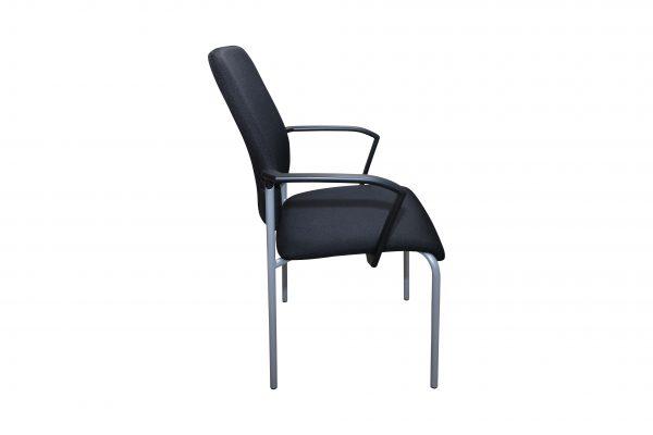 nterstuhl Goal schwarz gebraucht 4 Fuß Stuhl Seitenansicht