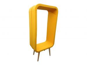 Kinnarps Frame Sessel Loungemöbel orange Vollansicht