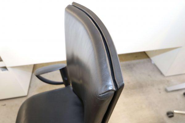 König & Neurath Tensa Leder-Chefsessel schwarz Leder Detailansicht