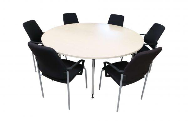Kusch & Co Besprechungstisch Klappbar Ahorn mit Stühlen