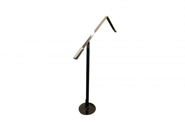 Luxit Top Ten Floor schwarz Designer Standlampe Ansicht von leicht hinten
