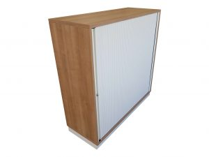 Oka Querrollo-Sideboard Nussbaum weiß in verschiedenen Größen Schrägaufnahme