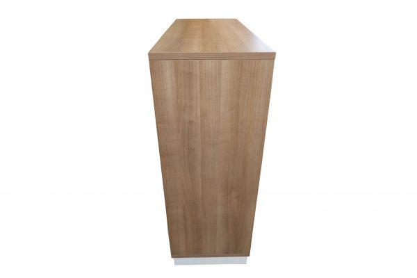 Oka Querrollo-Sideboard Nussbaum weiß in verschiedenen Größen Seitenaufnahme