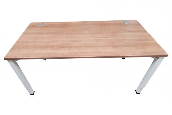 Oka Schreibtisch Nussbaum weiß verschiedene Größen vorrätig Rückseitenaufnahme