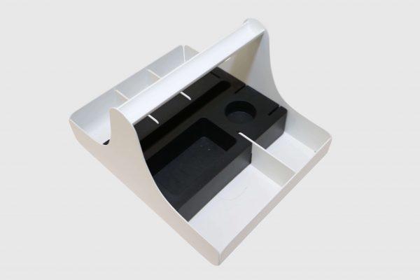 Palmberg Bric Korb in weiß in freigestellter Darstellung