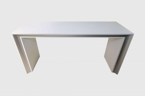 Palmberg KIT Brücke weiß gebürstetets Aluminium Frontalansicht