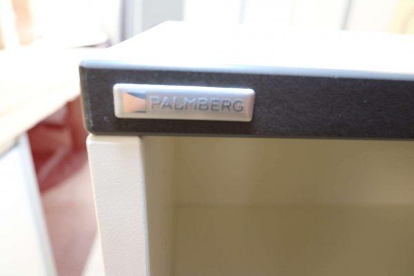 Palmberg Prisma 2 Highboard weiß schwarze Kante 3 OH in 2 Ausführungen Logo
