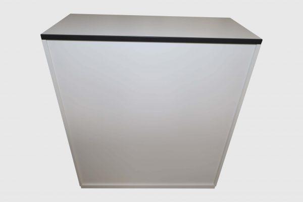Palmberg Prisma 2 Highboard weiß schwarze Kante 3 OH in 2 Ausführungen Rückansicht