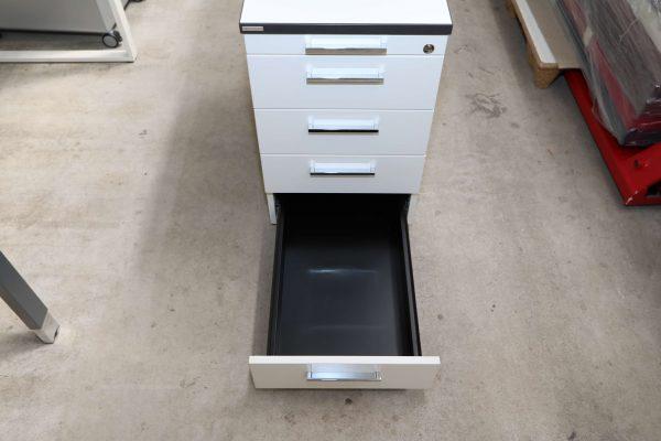 Palmberg Standcontainer weiß mit schwarzer Kante unterste Schublade