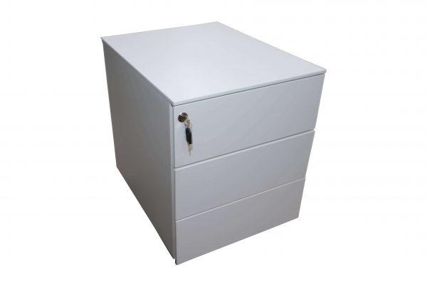 Sedus Rollcontainer Metall kurz Weiß freigestellt