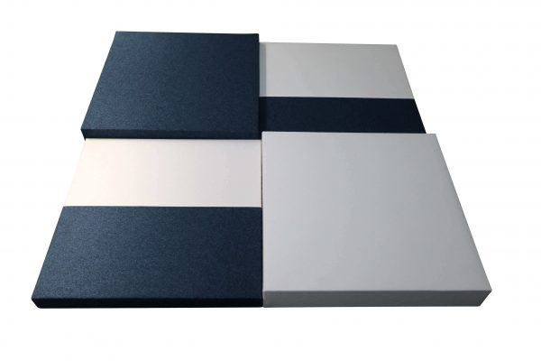 Sedus acustic mood wall verschiedene Größen und Farben mögliche Zusammenstellung in Blau-Weiß