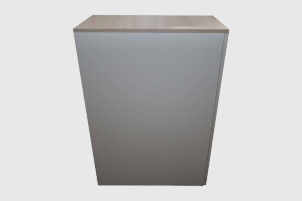 Sedus Apothekerschrank Hochcontainer weiß Akazie Deck zu Seitenansicht