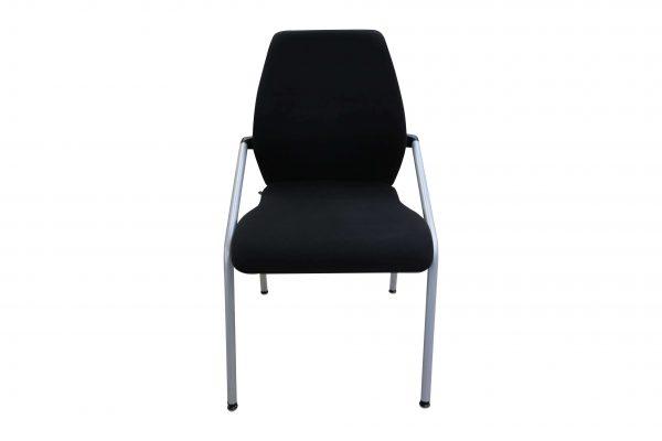 Sedus Besprechungsstuhl stapelbar schwarz 4-Fuß Gestell Frontalansicht