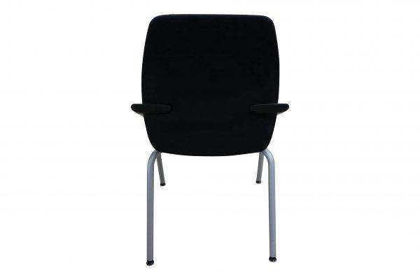 Sedus Besprechungsstuhl stapelbar schwarz 4-Fuß Gestell Rückansicht