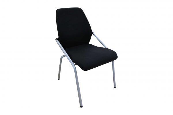 Sedus Besprechungsstuhl stapelbar schwarz 4-Fuß Gestell Schrägansicht