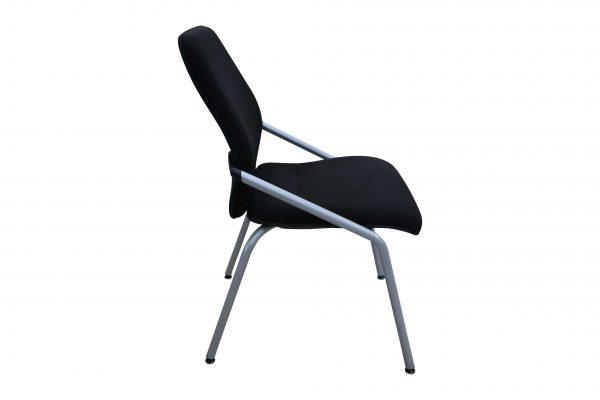 Sedus Besprechungsstuhl stapelbar schwarz 4-Fuß Gestell Seitenansicht