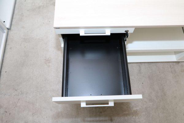 Sedus Druckerschrank Weiss Akazie 1 Schublade geöffnet