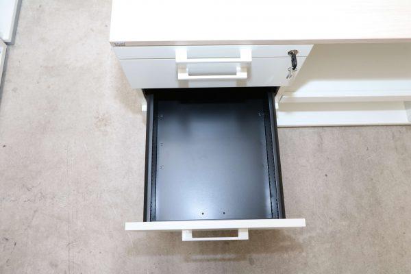 Sedus Druckerschrank Weiss Akazie 2 Schublade geöffnet