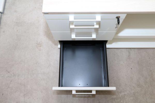 Sedus Druckerschrank Weiss Akazie 3 Schublade geöffnet