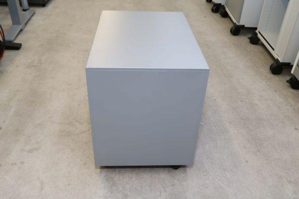 Sedus Hängeregister-Rollcontainer Stahl silber Rückansicht