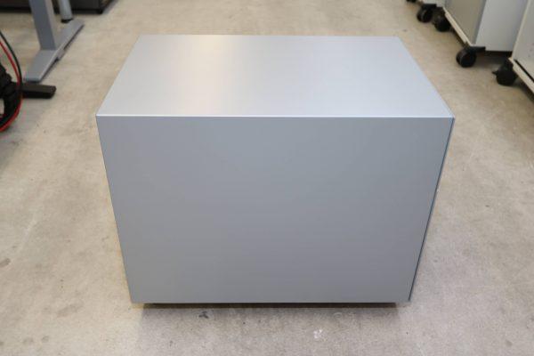 Sedus Hängeregister-Rollcontainer Stahl silber Seitenansicht