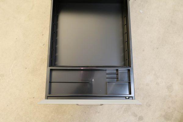 Sedus Hängeregister-Rollcontainer Stahl silber Schublade mit Stifteinsatz