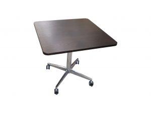 Sedus kleiner quadratischer Tisch Wenge rollbar freigestellt