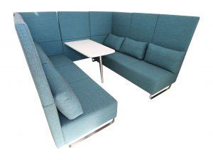 Sedus Lounge Sopha 6er mit Tisch leicht schräge Ansicht von links