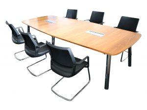 Sedus Mastermind mm300 Nussbaum Echtholz Konferenztisch komplett bestuhlt