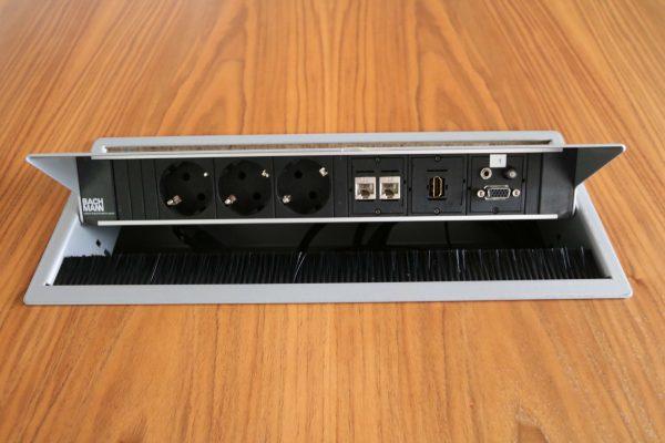 Sedus Mastermind mm300 Nussbaum Echtholz Konferenztisch Netzwerkdose 2