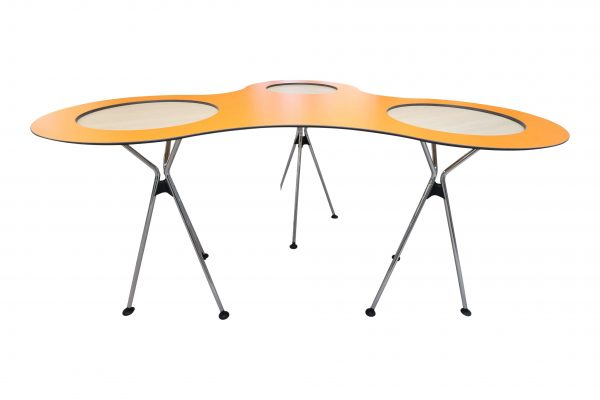 Sedus Meet Table Over Easy 3er mt323 mt334 Orange Frontalansicht