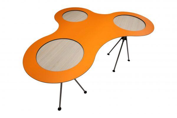 Sedus Meet Table Over Easy 3er mt323 mt334 Orange Schrägansicht