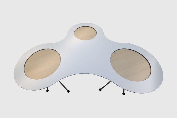 Sedus Meet Table Over Easy 3er mt323 mt334 Weiß Aufsicht
