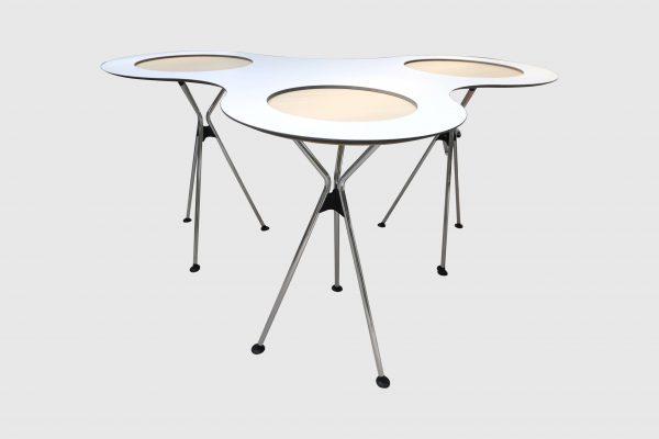 Sedus Meet Table Over Easy 3er mt323 mt334 Weiß Frontalansicht