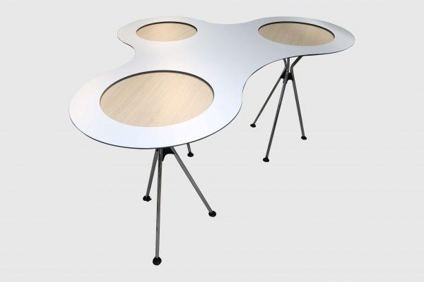 Sedus Meet Table Over Easy 3er mt323 mt334 Weiß Schrägansicht
